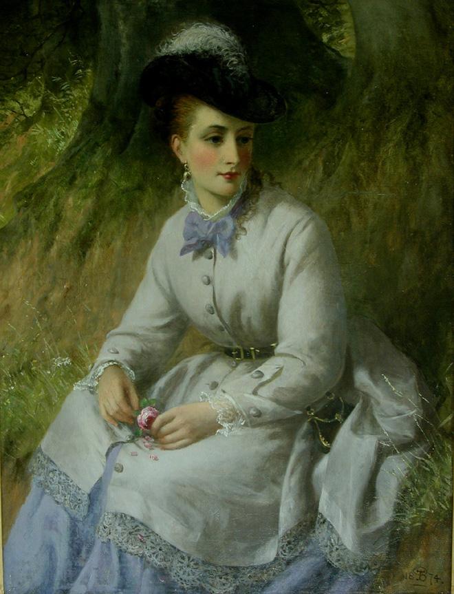 BT kvinnoporträtt efter restaurering